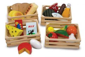 Set cibo in legno - giocattoli di legno