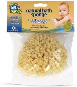spugna marina per il bagnetto del neonato