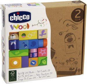 Chicco-Wood-Cubi-Legno - giocattoli economici