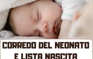 corredo neonato e lista nascita