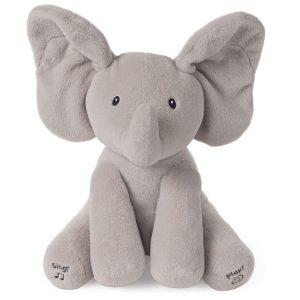 GUND-Flappy elefantino Peluche Interattivo parlante - giochini neonati 2 mesi
