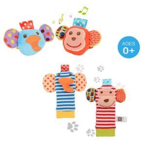 Sonagli per bambini per polsi e caviglie - giochini neonati 2 mesi