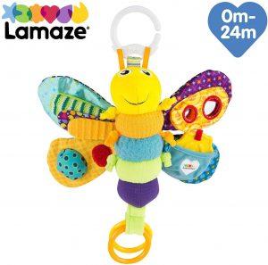 Tomy - Lucciola di peluche, giocattolo da appendere - giochini neonati 5 mesi