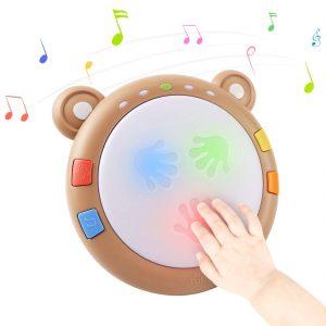 tamburello musicale tumama - giochini neonati 6 mesi